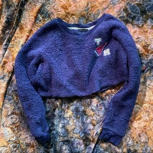TOMMY HILFIGER Cropped Plush Pullover